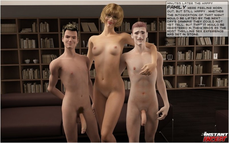 Instant Incest – Mom's threesome with sons