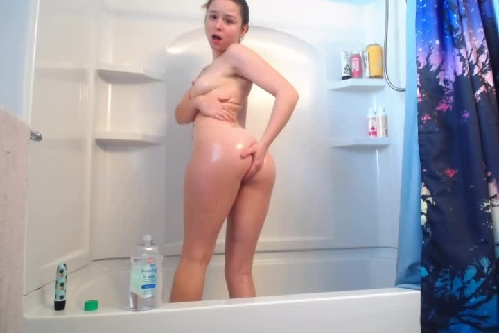 sexkitteh sex slave oils up and cums for master – sexkitteh – Shower, Orgasms